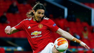 Man Utd striker Cavani matches Solskjaer goalscoring record