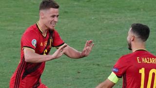 Watch: Thorgan Hazard proud of Belgium goal; worried about Eden, De Bruyne