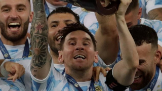 HE'S DONE IT: Messi wins Copa America with Argentina