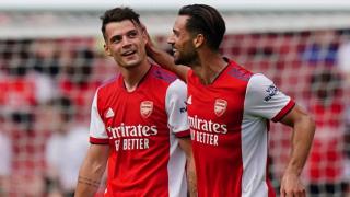 Xhaka rejoins Arsenal teammates at London Colney