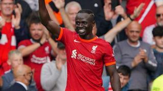Liverpool striker Sadio Mane scores his 100th Premier League goal against Watford